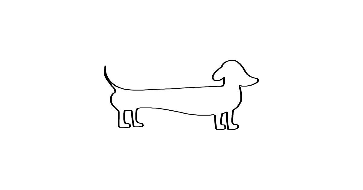 Line Drawing Dachshund : Dachshund silhouette black doxie dogs cute
