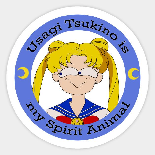 Usagi Tsukino Is My Spirit Animal Sailor Moon Sticker Teepublic