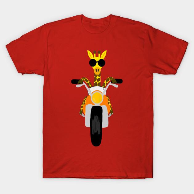 Cool Giraffe Riding A Motorcycle