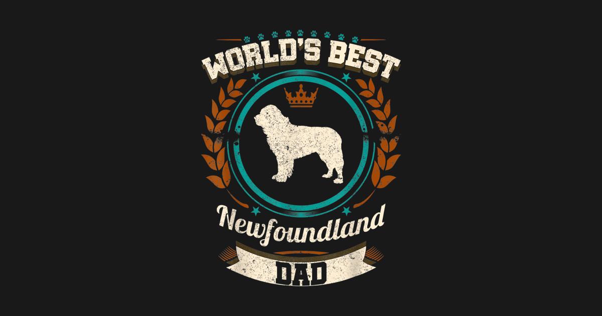 Mens World s Best Newfoundland Dad Dog Owner T Shirt by ktnstore