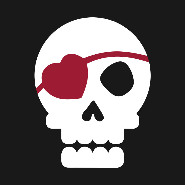 Skull With Heart Eye Patch Cute Valentine S Day Skull With Heart