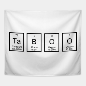 Periodic table words tapestries teepublic taboo two tapestry urtaz Gallery