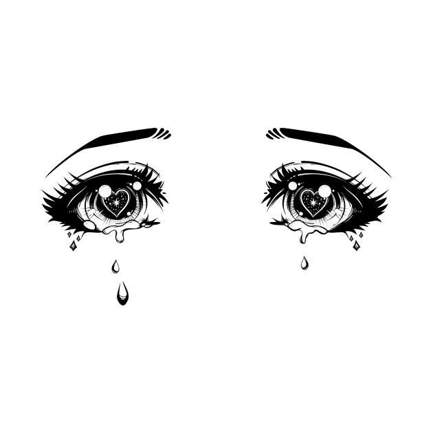 Глаза плачут картинки аниме