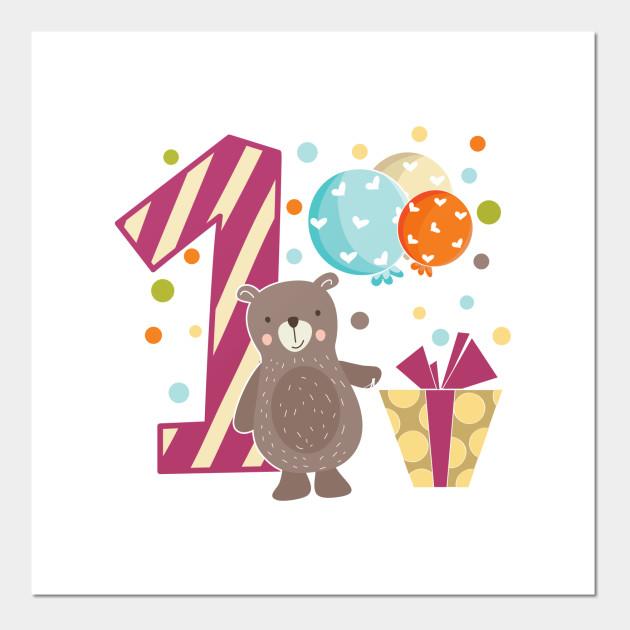 First 1 Birthday Toddler Girl Daughter Niece Giraffe Cute Sweet One Year Old Mug Sticker