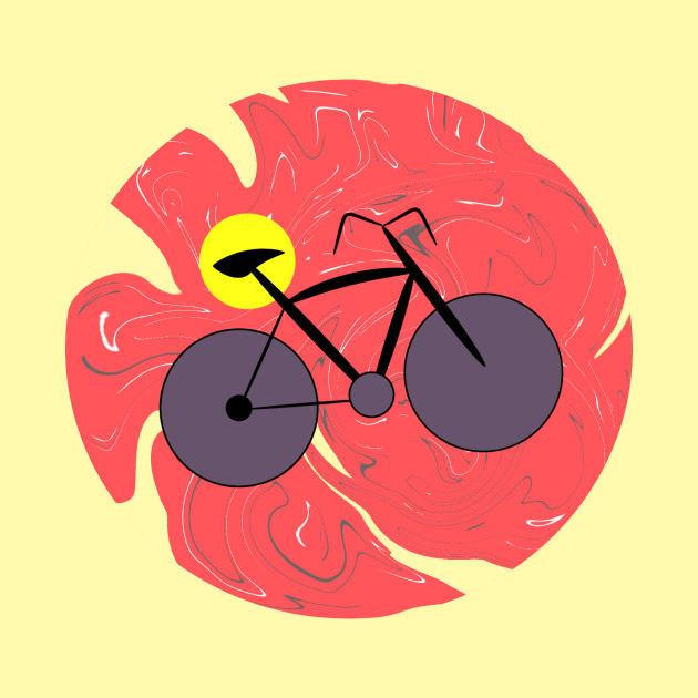 Bike on abstract background