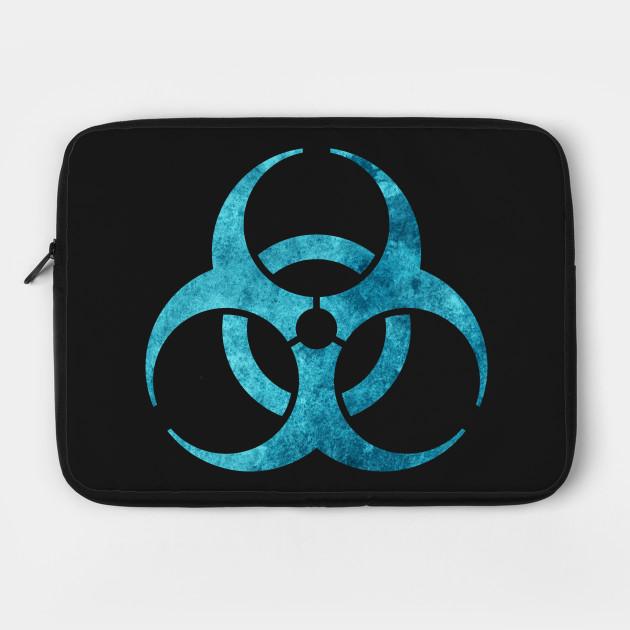 Blue Biohazard Symbol Biohazard Laptop Case Teepublic