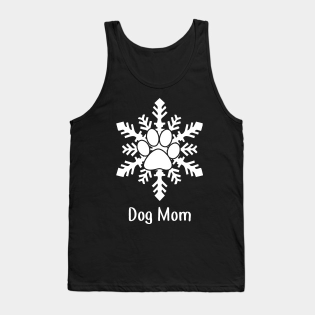 Snow Dog Paw Christmas Gift For Dog Lovers Tank Top