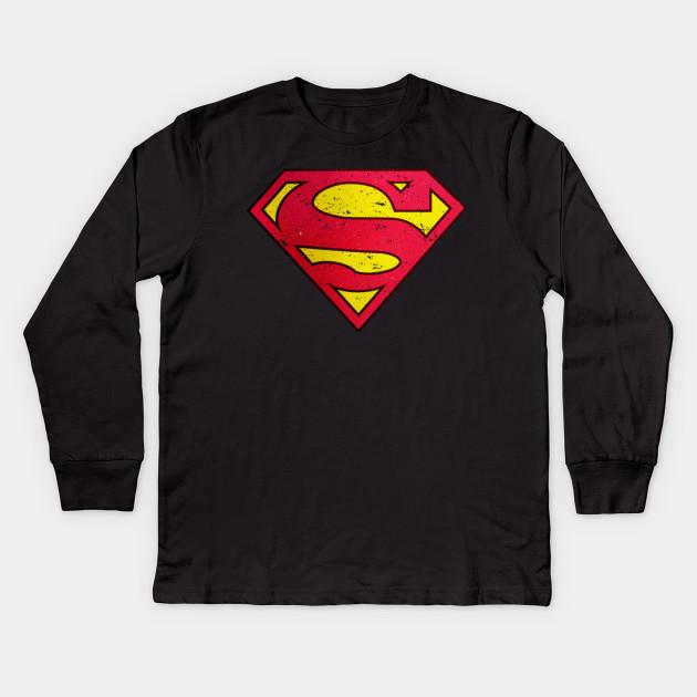 SUPERMAN CLASSIC LOGO SUPERHERO COMICS MEN´S BLACK HOODIE SWEATSHIRT 160