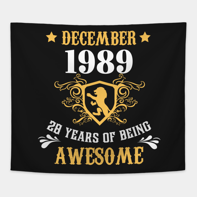 Birthday Gift For Adults Who Born In Dec 1989 Shirt Ideas Tapestry