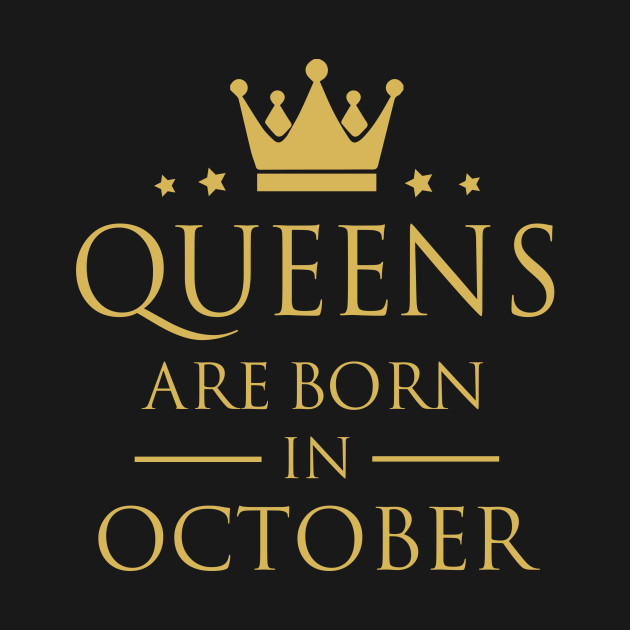a7212632 QUEENS ARE BORN IN OCTOBER - Queens - Pillow | TeePublic