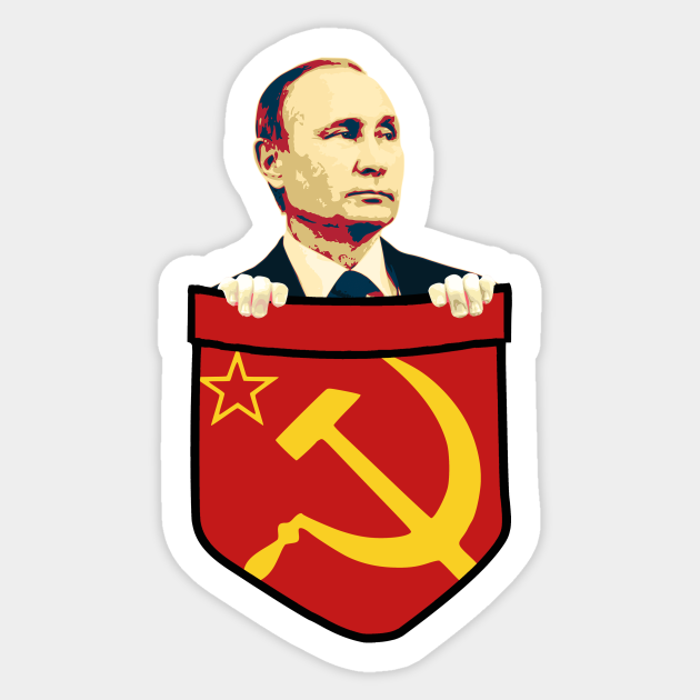 Vladimir Putin Communism Chest Pocket Vladimir Putin Sticker Teepublic