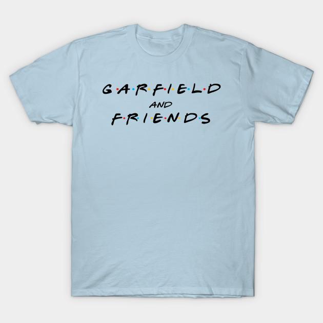 7b82e95e30 Garfield and Friends Logo (Black) - Garfield - Camiseta