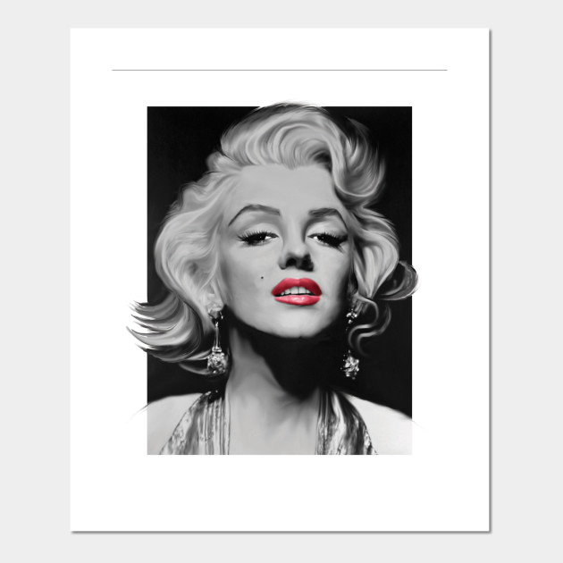 Marilyn & Her Red Lips - Marilyn Monroe - Posters and Art Prints ...