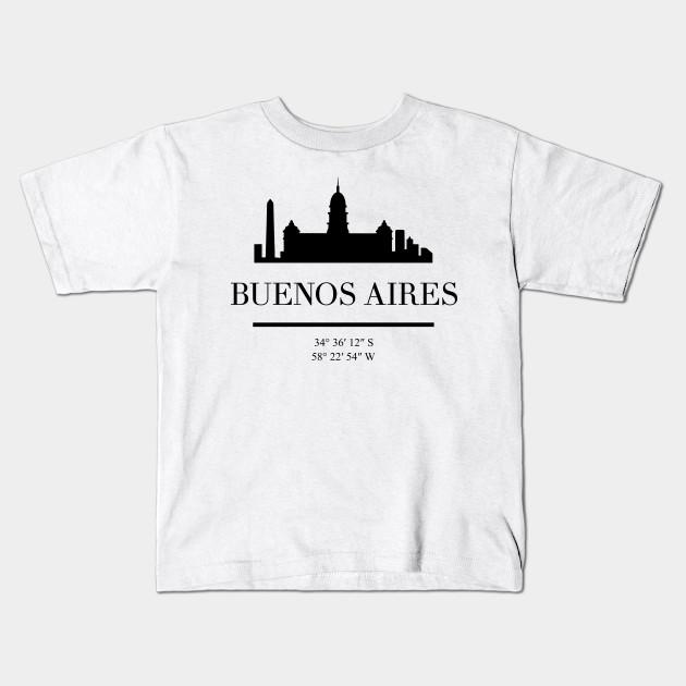 aba84485fd7 BUENOS AIRES ARGENTINA BLACK SILHOUETTE SKYLINE ART
