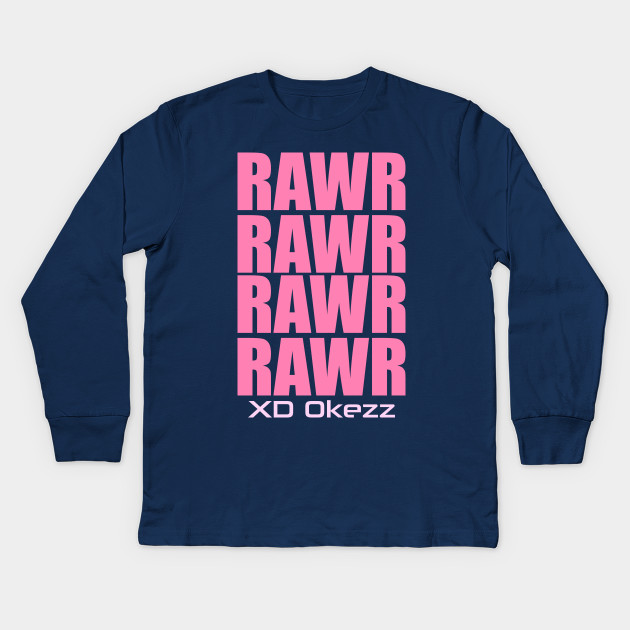 Rawr Xd Emo Hipster Kids Long Sleeve T Shirt Teepublic