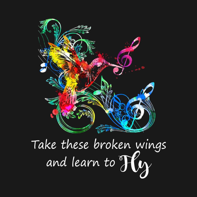 Take these Broken Wings And Learn To Fly T shirt