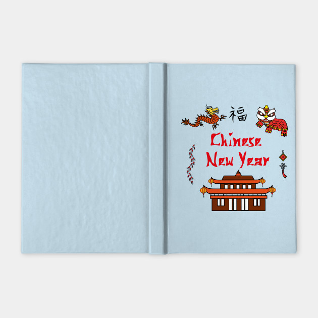 1f6e4f1f5 Chinese New Year symbols - China - Notebook | TeePublic