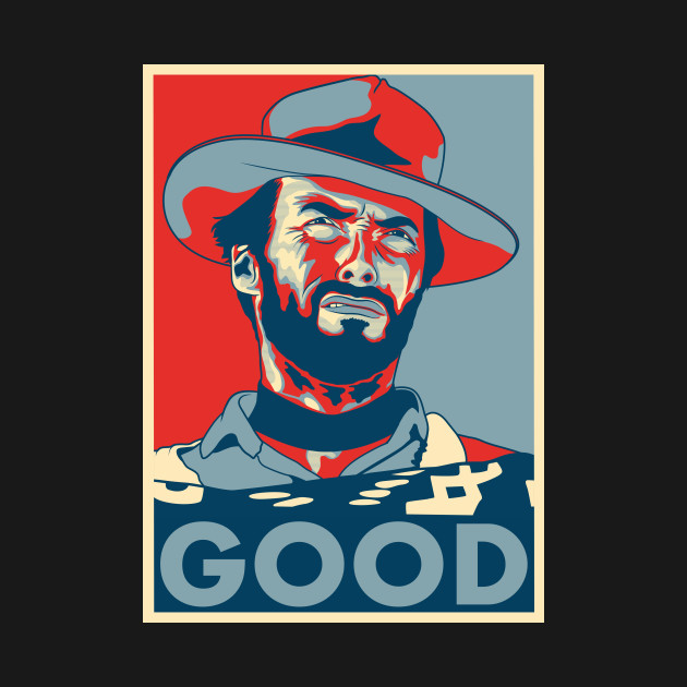 """Clint Eastwood """"Hope"""" Poster"""