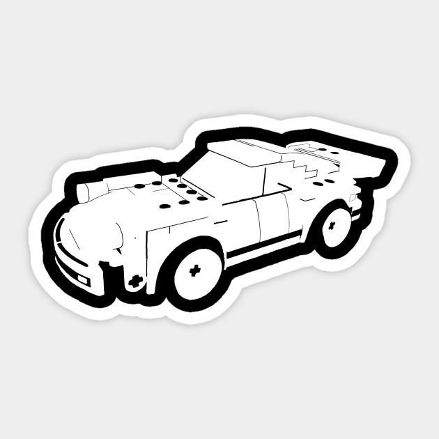 Lego Porsche White