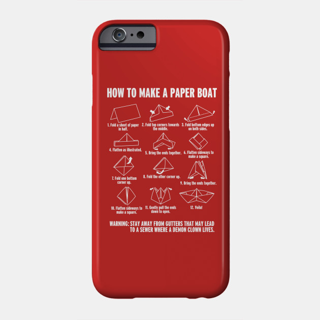 how to make a paperboat it pennywise phone case teepublic