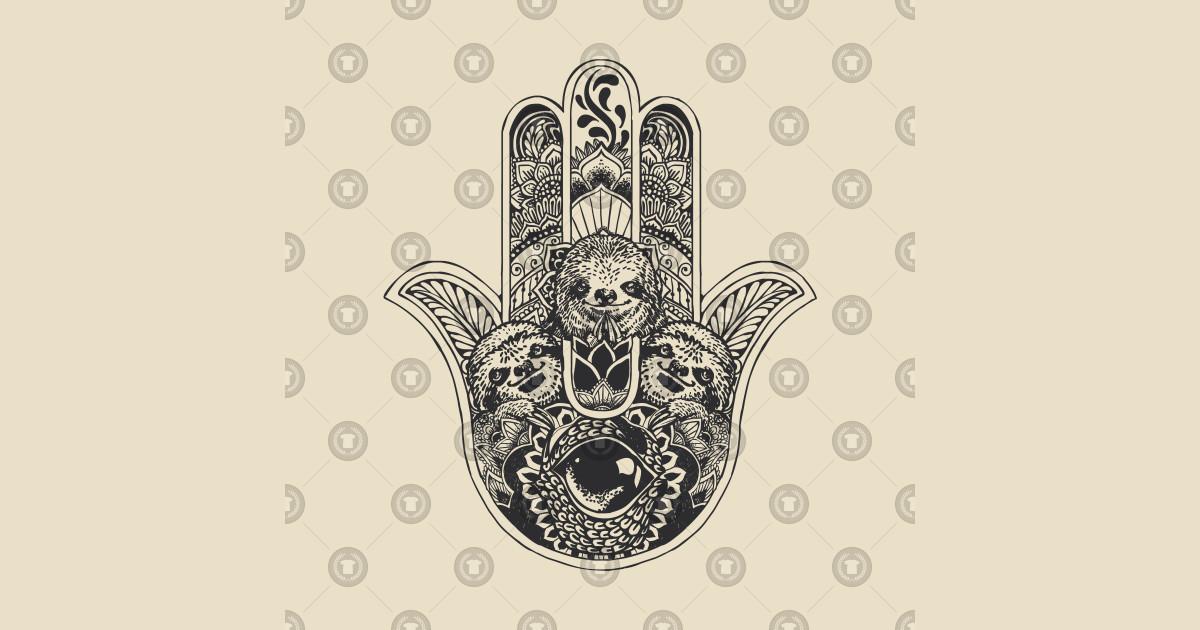 2b9e3c00a Hamsa Hand Sloth - Sloth - Long Sleeve T-Shirt | TeePublic