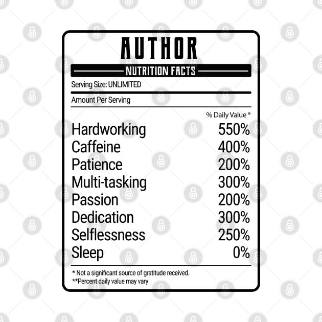 author nutrition value