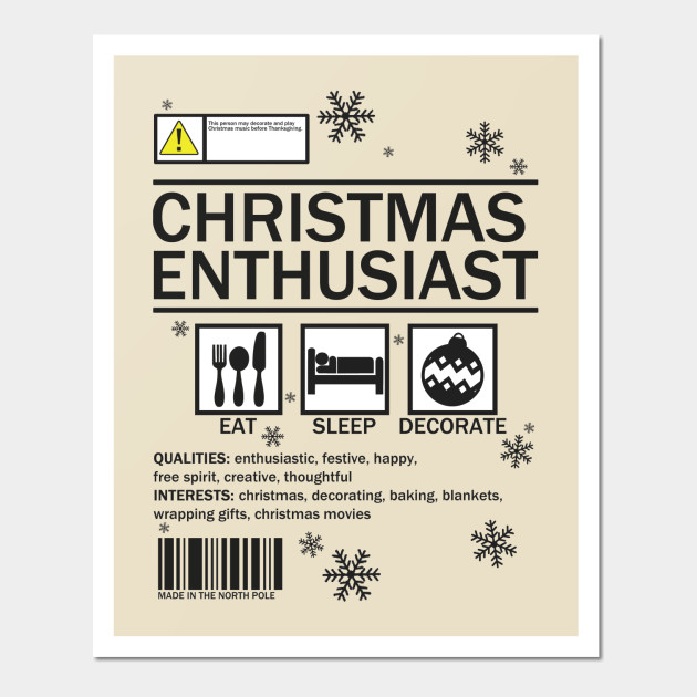 Christmas enthusiast label