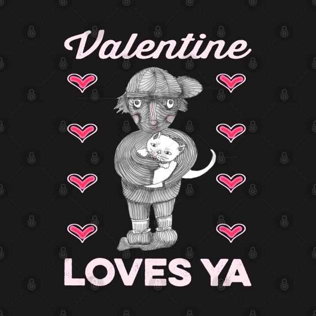 Valentine Rescue cat Loves Ya