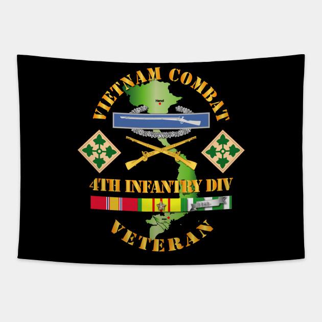 Vietnam Combat Infantry Veteran w 4th Inf Div SSI V1
