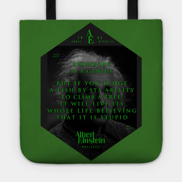 Quotes From Albert Einstein On Genius Poster Sticker Gifts And Albert Einstein Tote Teepublic Au