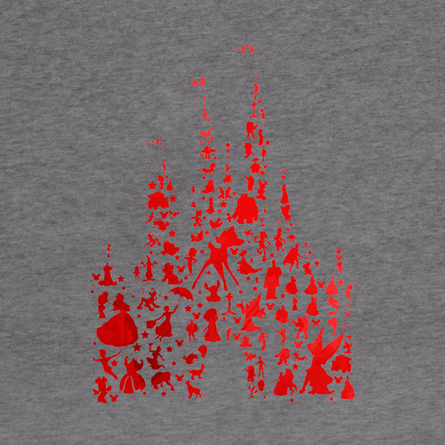 Red Character Castle Inspired Silhouette