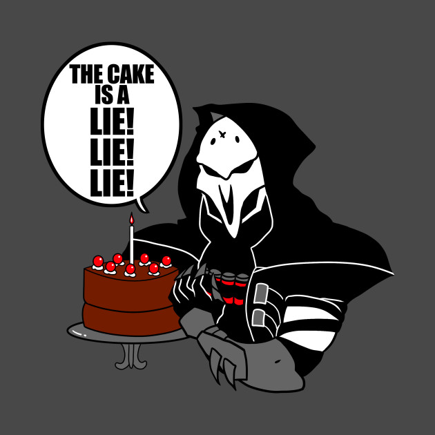The cake is a lie! lie! lie! - Overwatch Ita - T-Shirt | TeePublic
