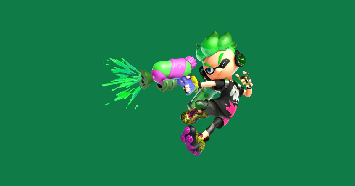 Green Inkling Boy Splatoon Sticker Teepublic