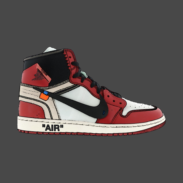 timeless design f281a 32a50 Nike Jordan 1 Off White Stencil