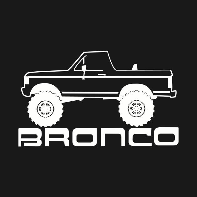 1987-1991 Bronco Side Topless White Print