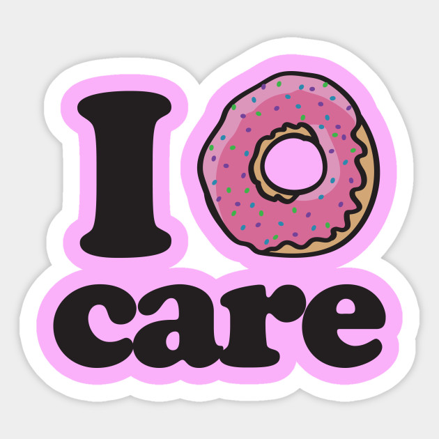 Silly sticker design by bubbsnugg i donut care