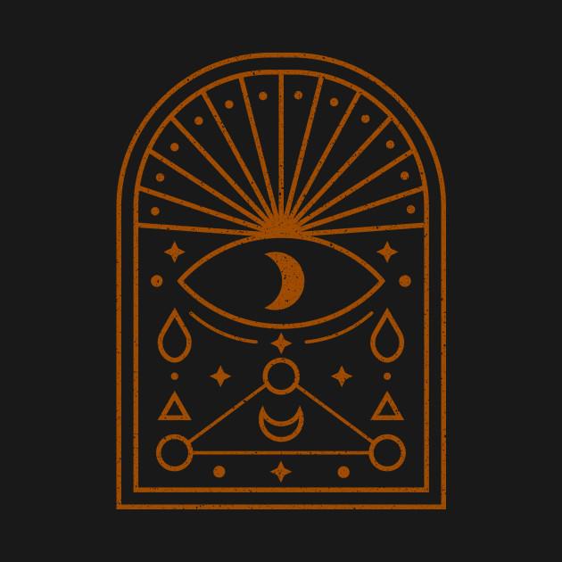 Occult eye symbol sacred geometry