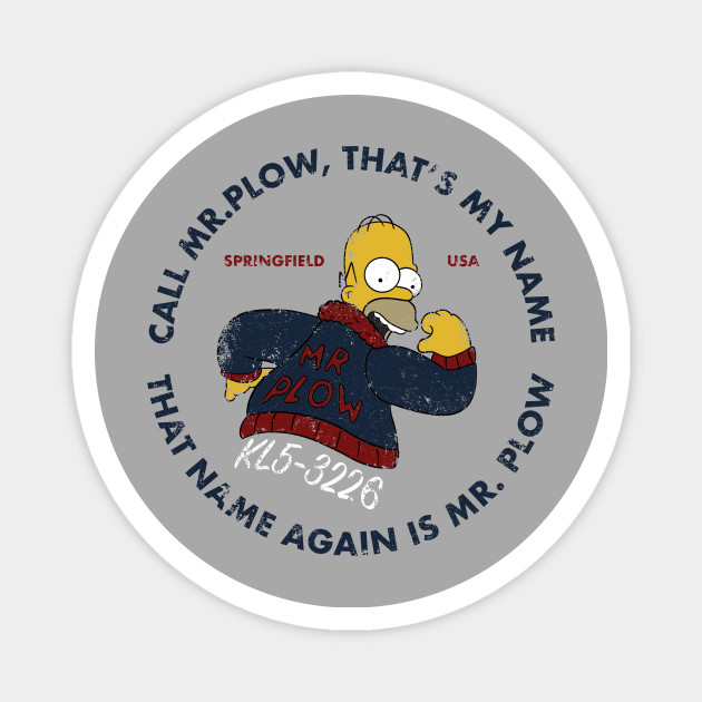 The Simpsons Mr Plow Vinyl Decal Full Color