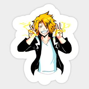 Kaminari Denki Lightning Thunder Stickers Teepublic Uk