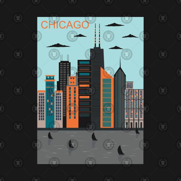 Chicago City Bright Colors