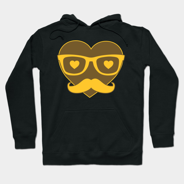 Hipster Heart Love Love Valentine's Day Hoodie