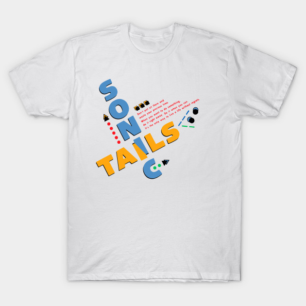 Sonic Tails Sonic The Hedgehog 2 Japanese Design Sonic T Shirt Teepublic Uk