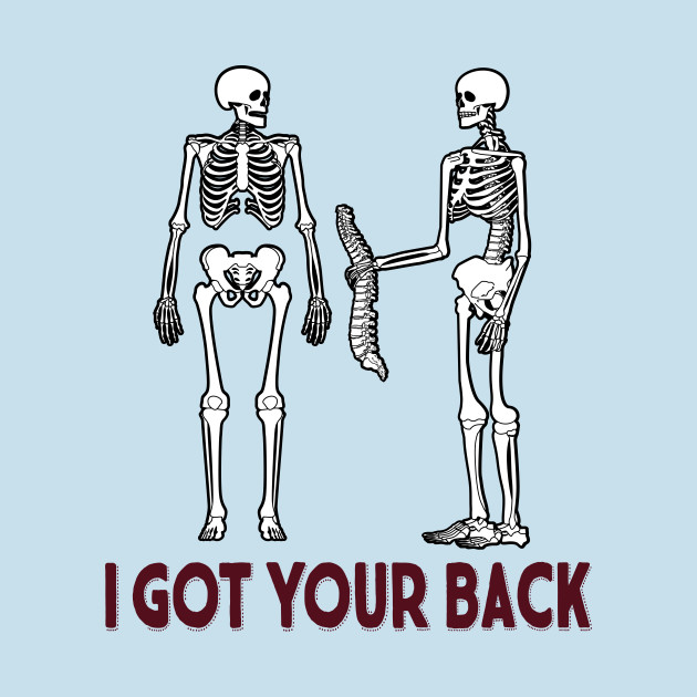Funny I Got Your Back Skeleton Halloween T-Shirt