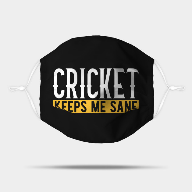 Cricket Lover Gift Idea Design Motif Cricket Mask Teepublic