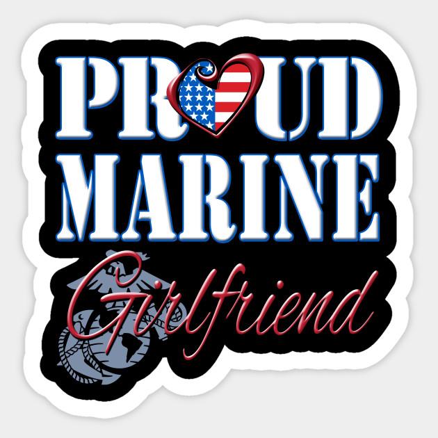 Proud Marine Girlfriend United States Of America Military Sticker