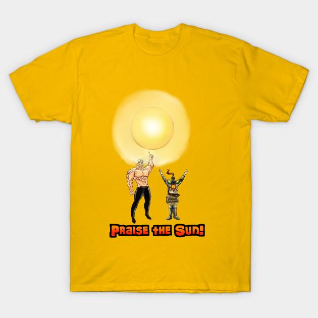 39b5ba472 Praise The Sun - Dark Souls - T-Shirt | TeePublic