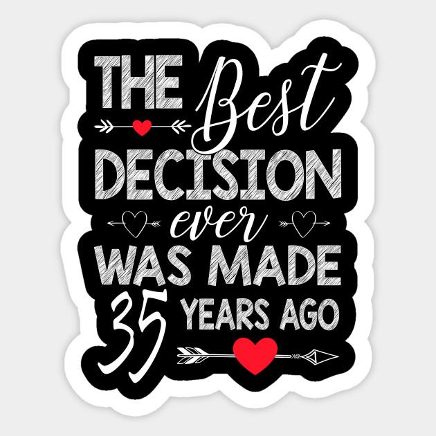 35th Wedding Anniversary Shirt For Couple 35th Wedding Anniversary Gifts Sticker Teepublic Au