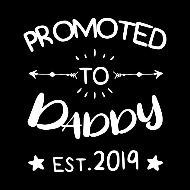 45935ef2f ... Mens Promoted to Daddy est.2019 First Time Father's Day Gift T-Shirt