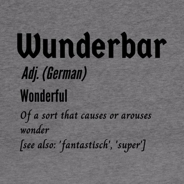 Wunderbar Meaning