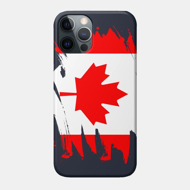 Canada Paint Splatter Flag Canadian Pride Design Canada Phone Case Teepublic